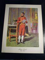 NAPOLEONE BONAPARTE  PRIMO CONSOLE  1800 - 1804   RIPRODUZIONE DI STAMPA ANTICA   35 X 27 CM - Vieux Papiers