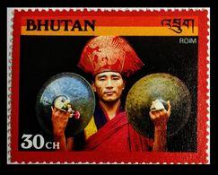 110. BHUTAN (30CH) 1990 STAMP MUSICAL INSTRUMENTS. MNH - Bhoutan