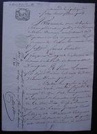 Tonneins Lot-et-Garonne Ventôse An 11 Brevet D'apprentissage Passé Entre François Deyrere à Marmande Et Pierre Larrieu - Manuscrits