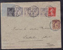 Maroc - France N° 83,85, 87 (bande De 4) Et 135 Sur Env. De Oudjda Du 31/10/1907 - Non Classificati