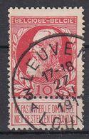 BELGIË - OPB - 1905 - Nr 74 - T4R (LEUVEN/LOUVAIN 3A) - COBA + 2.00 € - 1905 Thick Beard