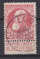 BELGIË - OPB - 1905 - Nr 74 - T1L (LOOZ) - COBA + 4.00 € - 1905 Thick Beard