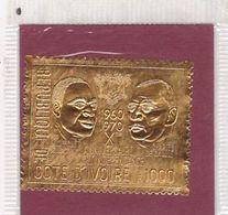 Côte D'Ivoire N° 308 XX 10ème Ann. De L'Indépendance : 1000 F Or MNH - Côte D'Ivoire (1960-...)