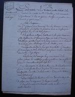 Sainte Bazeille, Près Marmande Lot-et-Garonne Ventôse L'an 8 Mariage De François Lerin Et Guiterie Artigue - Manuscrits
