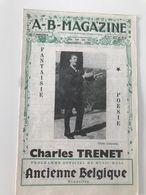 Programme Officiel Du Music-hall ANCIENNE BELGIQUE (1960) Charles TRENET - Programme