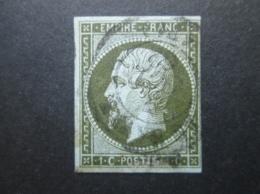 FRANCE  Timbre Napoléon III 1c 1853-1860 YT 11 - 1853-1860 Napoléon III.