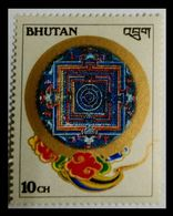 110. BHUTAN (10CH) STAMP BUDDHIST SYMBOL.  MNH - Bhoutan