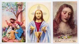 Lotto 3 Santini GESÙ CON I BAMBINI, GESÙ CON SACRO CALICE, VOLTO DI GESÙ (Eb V/610, V/1079, V/712) - PERFETTO P77- - Religion & Esotérisme