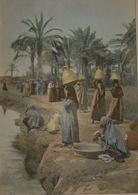 Egypte. Les Bords Du Nil à Bédrechein. Photogravu Re Fin XIXe. - Prenten & Gravure