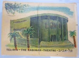 AMERICAN DECALCOMANIA COMPANY HABIMA THEATER TEL AVIV ISRAEL CALCOMANIA LABEL ETIQUETTE AUFKLEBER DECAL STICKER ETIQUETA - Autres Collections