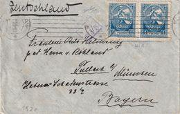 LETTONIE 1920 LETTRE CENSUREE POUR MÜNCHEN - Lettonie