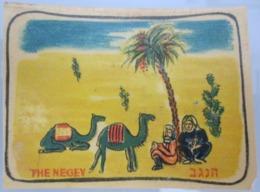 AMERICAN DECALCOMANIA COMPANY NEGEV DESERT CAMEL ISRAEL CALCOMANIA LABEL ETIQUETTE AUFKLEBER DECAL STICKER ETIQUETA - Autres Collections
