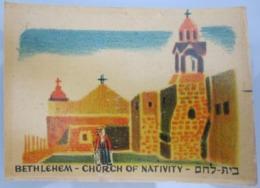 AMERICAN DECALCOMANIA COMPANY NATIVITY CHURCH JERUSAL ISRAEL CALCOMANIA LABEL ETIQUETTE AUFKLEBER DECAL STICKER ETIQUETA - Autres Collections