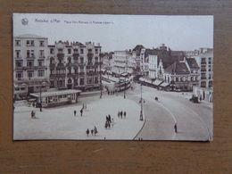 Knokke Aan Zee, Knocke Sur Mer / Place Van Bunnen Et Avenue Lippens (met TRAM) 1929 - Knokke