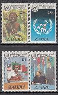 Zambia - Correo Yvert 336/9 ** Mnh  ONU - Zambie (1965-...)