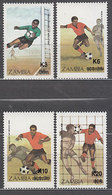 Zambia - Correo Yvert 403/6 ** Mnh   Deportes F�tbol - Zambie (1965-...)