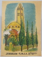 AMERICAN DECALCOMANIA COMPANY YMCA HOTEL JERUSALEM ISRAEL CALCOMANIA LABEL ETIQUETTE AUFKLEBER DECAL STICKER ETIQUETA - Autres Collections