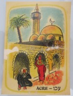 AMERICAN DECALCOMANIA COMPANY OLD CITY ACRE PORT ISRAEL CALCOMANIA LABEL ETIQUETTE AUFKLEBER DECAL STICKER ETIQUETA - Autres Collections