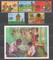 Uganda - Correo Yvert 949/53+H 166 ** Mnh - Uganda (1962-...)