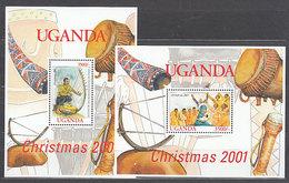 Uganda - Hojas Yvert 336/7 ** Mnh  Navidad. Instrumentos De M�sica - Uganda (1962-...)