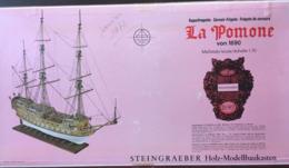 Superbe Maquette En Bois à Monter Frégate Corsaire La Pomone Steingraeber 1:70 Complet  Notice En F , D , GB - Bâteaux