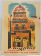 AMERICAN DECALCOMANIA COMPANY JERUSALEM HOLY SEPULCRE ISRAEL CALCOMANIA LABEL ETIQUETTE AUFKLEBER DECAL STICKER ETIQUETA - Autres Collections