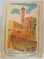 AMERICAN DECALCOMANIA COMPANY JERUSALEM DAVID TOWER ISRAEL CALCOMANIA LABEL ETIQUETTE AUFKLEBER DECAL STICKER ETIQUETA - Autres Collections