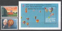 Tanzania - Correo Yvert 1378/9+H 211 ** Mnh  Globos - Tanzania (1964-...)