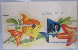 AMERICAN DECALCOMANIA COMPANY JERUSALEM FISH AQUARIUM ISRAEL CALCOMANIA LABEL ETIQUETTE AUFKLEBER DECAL STICKER ETIQUETA - Autres Collections