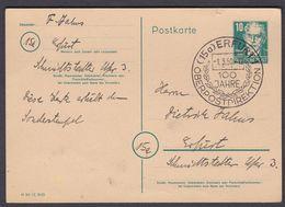 Wei_ DDR 1950 - Ganzsache Postkarte Mi.Nr. P 35 / 02 - Gestempelt Used - 100 Jahre Oberpostdirektion Erfurt - [6] República Democrática