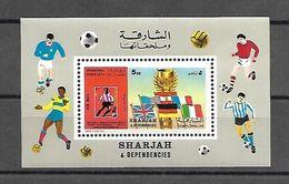 Sharjah 1970 Sports - Football #3 MS MNH - Football