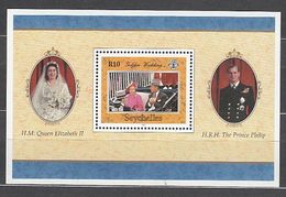 Seychelles - Hojas Yvert 39 ** Mnh  Bodas De Oro De Isabel II - Seychelles (1976-...)