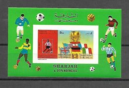 Sharjah 1970 Sports - Football #2 IMPERFORATE MS MNH - Football