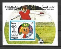 Sharjah 1972 Sports - Football IMPERFORATE MS MNH - Football