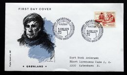 Greenland   1979.  Arctic Explorer Knud Rasmussen 100 Years Semi-postal  MiNr.116 FDC ( Lot Ks)FOGHS COVER - FDC