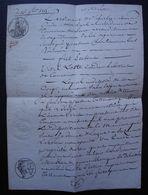 Tonneins 1815 Lot-et-Garonne Testament De Vital Lotte Cordier - Manuscrits