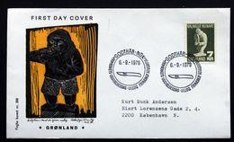 Greenland   1979.Cz.Slania. Soapstone Skulptur MiNr.117 FDC ( Lot Ks )FOGHS COVER - FDC