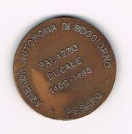 // PENNING  AZIENDA AUTNOMA DI SOGGIORNO PALAZZO DUCALE 1450 - 1465 PESARO - PIAURUM - Monete Allungate (penny Souvenirs)