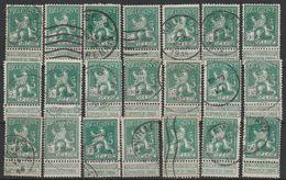 Nr 110  Nuances,kleuren ,Variateiten 21x Oblit/gestp - Sammlungen