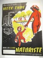 AFFICHE 30 X 40 Cm - Naturisme - Afiches