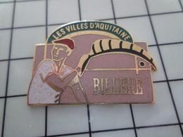 1320 Pin's Pins / Beau Et Rare / THEME : VILLES / SERIE LES VILLES D'AQUITAINE BILLERE PELOTE BASQUE Par TIR GROUPE - Villes