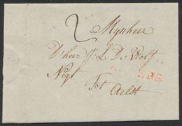 """Précurseur - LAC Datée D'Antwerpen (1796) + Obl Linéaire 93 / ANVERS Et Port """"2"""" > Aelst (Alost). - 1794-1814 (Franse Tijd)"""