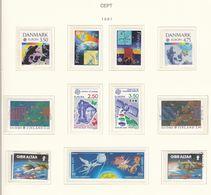 Europa-CEPT - 1991 - Sammlung 2. - Postfrisch/Gest. - 27 Euro - 1991