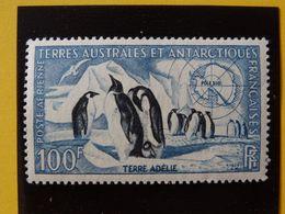 T.A.A.F. N°3 Neuf* Manchot EmpeureurTerre Adélie Pôle Sud Poste Aérienne Charnière Faune Cote 33€ - Airmail