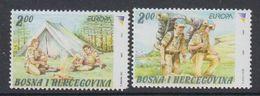 Europa Cept  2007 Bosnia/Herzegovina Sarajevo 2v (1 Value Round Corner !) ** Mnh (48710) - 2007