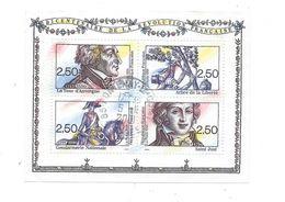 620  TP - FRANCE 1991 -  BLOC FEUILLET N° 13 - BICENTENAIRE DE LA REVOLUTION  Oblitération Manuelle Centrée - Sheetlets