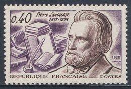 France Rep. Française 1968 Mi 1625 YT 1560 Sc 1213 SG 1795 ** Pierre Larousse, Encyclopedist / Sprachwissenschaftler - Sprachen