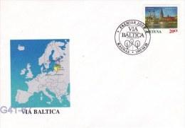 Lithuania FDC:  1995  Via Baltica  (G41-67) - Lituanie