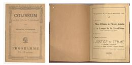 RARE  Programme Cinéma 1918 - Programmi