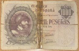 Ref. 104-1130 - BIN SPAIN . 1940. 1000 Pesetas 21st October 1940 - Carlos I. 1000 Pesetas 21 De Octubre 1940 - Carlos I - [ 3] 1936-1975: Regime Van Franco